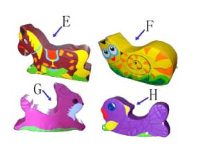 Animal rockers rocking horses for play centres