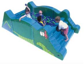 Crocodile pit for kids play