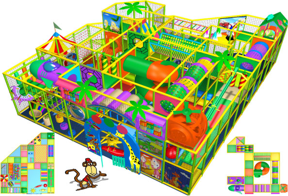 massive indoor play equipment design 270-005