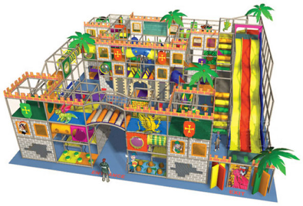Indoor Play Equipment 270-003 soft play design