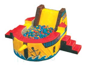 pirate ship ball pit